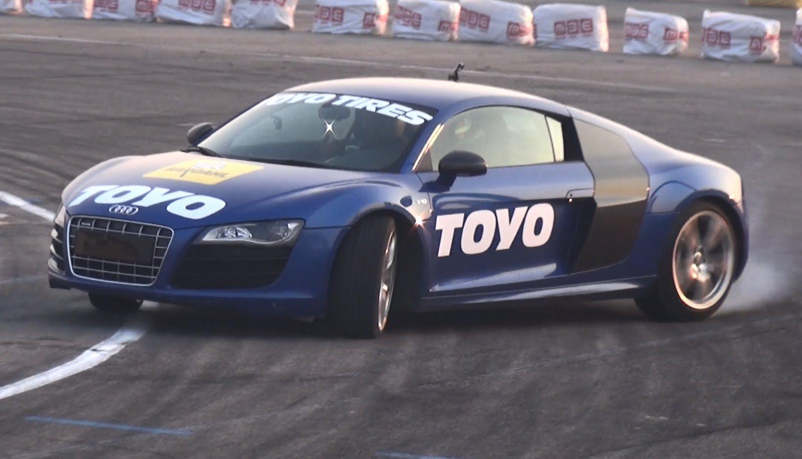 Audi R8 Drift Car With Rwd Hydraulic Handbrake Raced By Valentino Rossi S Dad